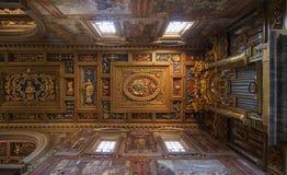 Decke des San Giovanni in Laterano-Basilika Stockfotografie