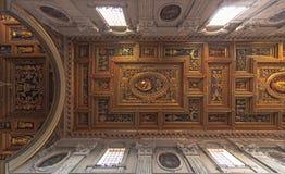 Decke des San Giovanni in Laterano-Basilika Lizenzfreies Stockfoto