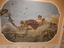 Decke im Achillieon-Palast auf der Insel von Korfu Griechenland errichtet von der Kaiserin Elizabeth von Österreich Sissi Stockbilder