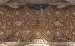 Decke Sans Pietro Basilica, Vatikan Stockbilder