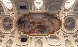 Decke Sans Pietro in Vicoli-Basilika Stockfoto