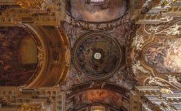 Decke Santa Maria della Vittoria Churchs Stockfoto