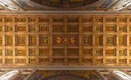 Decke Santa Maria Maggiore Basilicas Lizenzfreies Stockfoto