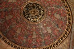 Decke in Topkapi-Palast in Istanbul Lizenzfreies Stockbild