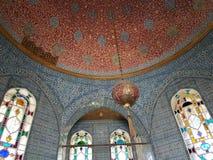 Decke in Topkapi-Palast in Istanbul Stockbilder