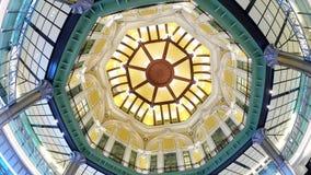 Decke und Strukturen der runden Form im Gebäude Lizenzfreies Stockfoto