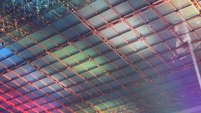 Decke verziert mit farbigen Lichtern stock video footage