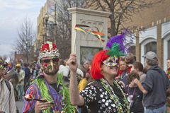 Decked Out for Mardi Gras Royalty Free Stock Images