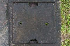 Deckelabfluß Stockfoto