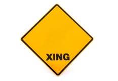 Decken Sie Überfahrtzeichen ab Stockbild