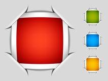 Decken Sie angebrachte quadratische Kennsätze ab Lizenzfreie Stockfotografie