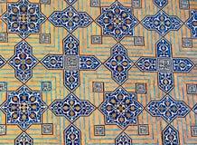 Decken Sie Auslegung, Jameh Moschee, Yazd mit Ziegeln stockfoto