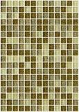 Decken Sie das Mosaikquadrat mit ziegeln, das mit goldenem backgro Beschaffenheit des Funkelns verziert wird stockfotos