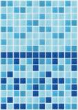Decken Sie den quadratischen blauen Beschaffenheitshintergrund des Mosaiks mit Ziegeln, der mit Funkeln verziert wird stockbild