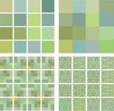 Decken Sie eine Strukturpistaziefarbe mit Ziegeln Stockbild