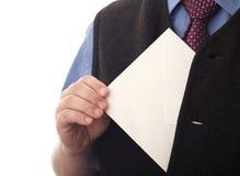 Decken Sie einschlagen in einer Hand ab Lizenzfreie Stockfotos