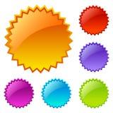Decken Sie farbige Web-Ikonen ab Lizenzfreie Stockfotografie