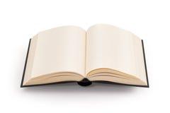 Decken Sie geöffnetes Buch - Ausschnittspfad ab Stockfotografie