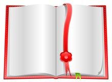 Decken Sie geöffnetes Buch mit Bookmarks ab stock abbildung