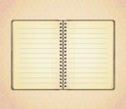 Decken Sie geöffnetes Notizbuch ab vektor abbildung