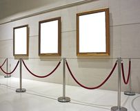Decken Sie gestaltetes Segeltuch in einem Museum ab Stockfotografie