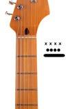 Decken Sie Gitarren-Stutzen mit Spannweite-Markierungen ab lizenzfreie stockbilder