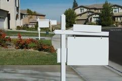 Decken Sie Grundbesitz-Zeichen ab Stockfotografie