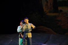 Decken Sie irgendjemandes innerste Gefühle - Jiangxi-Oper eine Laufgewichtswaage auf Stockbild