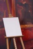 Decken Sie Künstlersegeltuch auf Gestell ab Stockbild