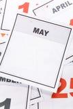 Decken Sie Kalender ab Stockfotografie