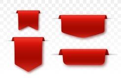 Decken Sie Kenns?tze ab Angebottag Rote farbige Promobänder vektor abbildung
