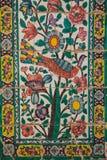 Decken Sie Platte mit Ziegeln, medrese Khan, Shiraz, der Iran Lizenzfreies Stockfoto