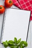 Decken Sie Rezeptbuch ab Stockfotos