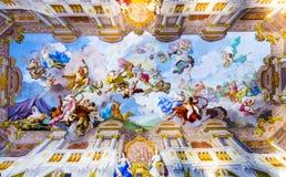 Deckenmalerei in Melk-Abtei Lizenzfreie Stockfotografie