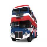 Decker Bus Britain Flag doble Imágenes de archivo libres de regalías
