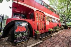 Decker Bus doble, cafetería Fotos de archivo libres de regalías
