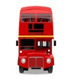 Decker Bus Isolated dobro vermelho Imagens de Stock Royalty Free