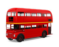 Decker Bus Isolated dobro vermelho Foto de Stock