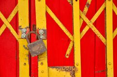 Decker fence chinese style locked royalty free stock photography