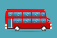 Decker Red Bus doble, vector rojo del autobús de Londres stock de ilustración