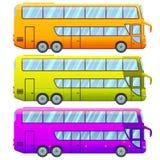 Decker Sightseeing Bus Collection doble turístico stock de ilustración