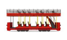 Decker Tram Isolated doble stock de ilustración
