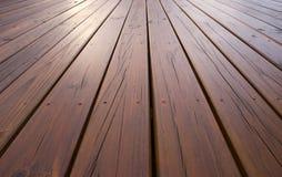 decking πεύκο που αντιμετωπίζε& Στοκ Εικόνα