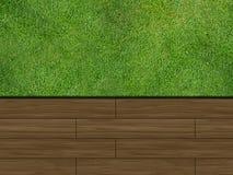 decking деревянный Стоковое Изображение RF