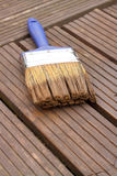 Decking brush paint stain Stock Photography