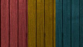 Decking coloré de teck Photos stock