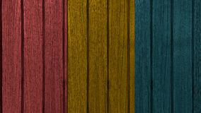 Decking Colourful del tek Fotografie Stock