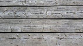 Decking di legno d'argento stagionato più vicino Fotografia Stock