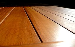Decking en bois Images stock