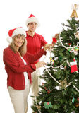 Decking the Halls Together Royalty Free Stock Images